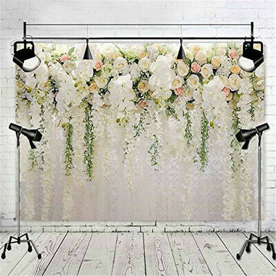 Flower Rose Floral Wall Wedding Backdrop Romantic Photography Background
