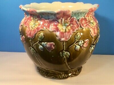 Planter Antique French Art Nouveau Majolica Jardiniere Planter c.1800's