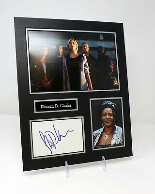 Sharon D CLARKE Signed Mounted Photo Display AFTAL COA Dr Who, Holby City Actor