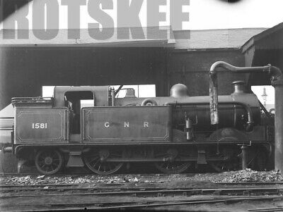 Glass Negative GNR Great Northern Railway Steam Loco 1581 Kings Cross 1925
