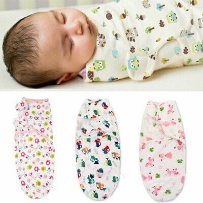 Pure Cotton Baby Newborn Swaddle Wrap Blanket Sleeping Bag Soft For 0-6 Month