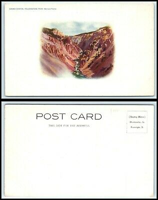 YELLOWSTONE National Park Postcard - Grand Canyon H10