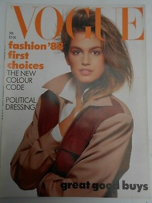 VOGUE * January 1988 -  MINT COPY - More Birthday Issues in our shop