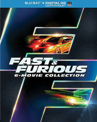 Fast & Furious 6-Movie Collection [Blu-ray]  VERY GOOD CONDITION