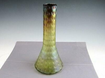 "Antique Kralik Loetz Art Glass Iridescent Two Color 10 1/2"" Vase"