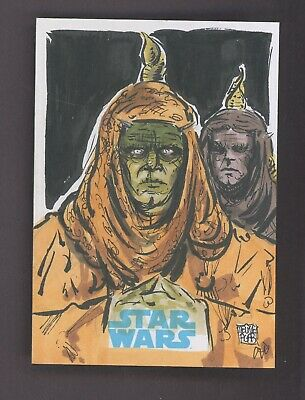 Star Wars Journey to the Force Awakens Sketch Card PASSEL ARGENTE MELIKE ACAR