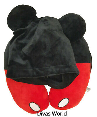 Disney Mickey Mouse Hooded Travel Pillow Neck Rest Cushion Brand New Primark