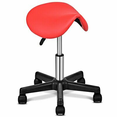 Adjustable Salon Massage Hydraulic Rolling Saddle Stool