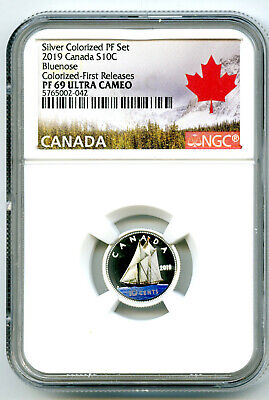 2019 Canada 10 Cent Silver Colored Proof Ngc Pf69 Ucam Dime First Releases Rare
