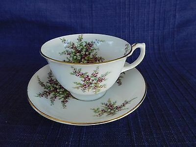 Antique Hammersley Purple & Yellow flowers CUP & SAUCER Set c.1860,1870