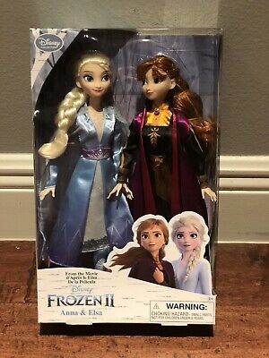 Disney Frozen II 2 Elsa & Anna Doll Set Classic Collection