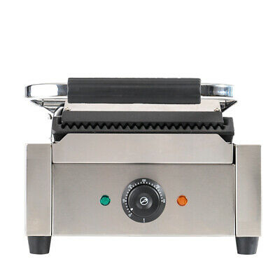 Commercial Stainless Steel Non-Stick Panini Sandwich Press Toaster Maker Grill