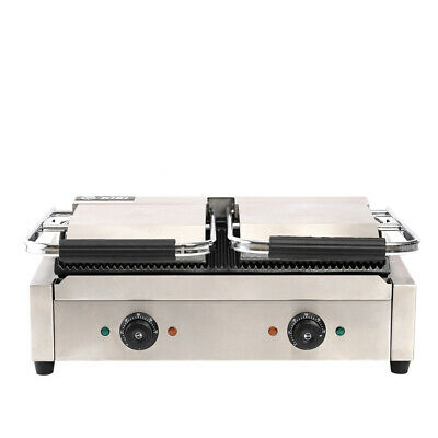 3600W Commercial Panini Press Toaster Electric Sandwich Maker Machine Grill UK
