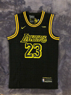 NWT #23 LeBron James Los Angeles Lakers Stitched BLACK Men's Jersey