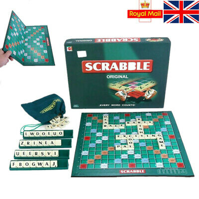 UK Original Scrabble Board Game Family Kids Adult Intelligent Toys Puzzle Game