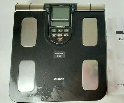 Omron HBF-516 Full Body Sensor COMPOSITION Monitor Scale System Body Fat  WORKS!