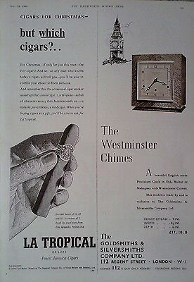 1950 ADVERT LA TROPICAL DE LUXE CIGARS - THE GOLDSMITHS & SILVERSMITHS Co Ltd