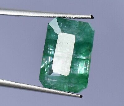 Top Grade Natural Colombian 8.30 ct Green Emerald Octagon Cut Loose Gemstone