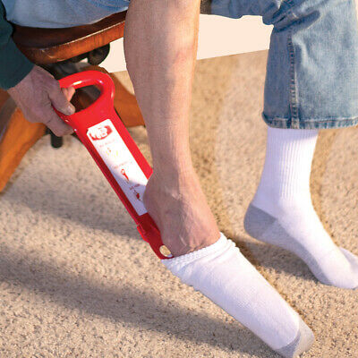 NEW No Ouchee Sock Assist w/ Detachable Handle Help Putting on Shoes And Socks