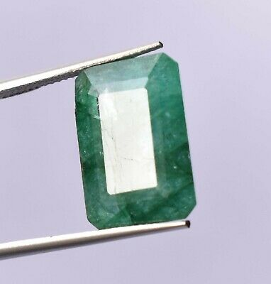 Top Grade Natural Colombian 15.55 ct Green Emerald Octagon Cut Loose Gemstone
