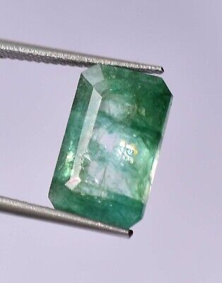 Top Grade Natural Colombian 7.70 ct Green Emerald Octagon Cut Loose Gemstone