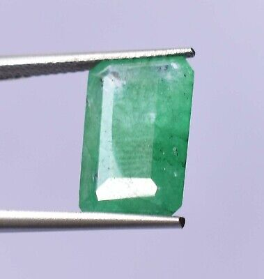 Top Grade Natural Colombian 5.45 ct Green Emerald Octagon Cut Loose Gemstone