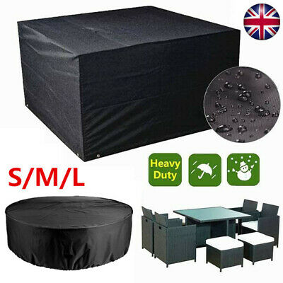 Heavy Duty Waterproof Garden/Patio Furniture Cover Outdoor Large Rattan Table UK