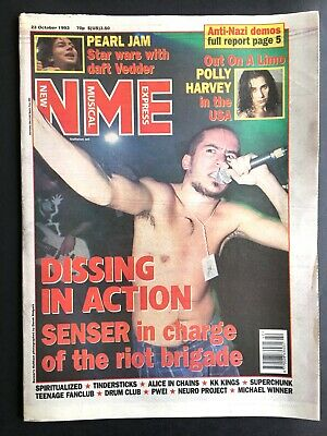 NME 23 October 1993 Senser, Pearl Jam, PJ Harvey, Tindersticks, Alice In Chains