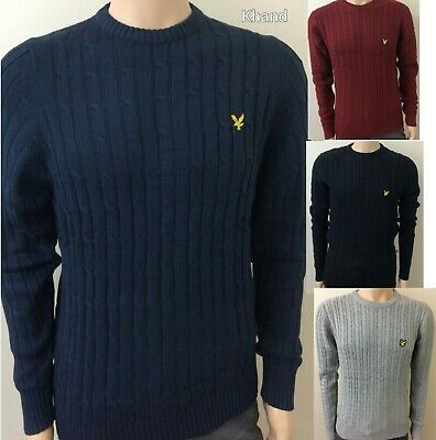 Winter Stylist Lyle And Scott Long Sleeve Cable Knit Jumper For Men