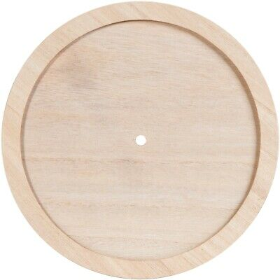 """Unfinished Wood W/wood Trim Clock Face Round-9.25""""x.875"""""""