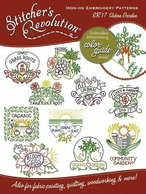 10/% Off Colonial Iron-on Embroidery Pattern Urban Garden