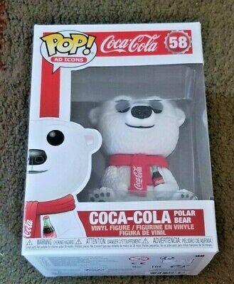 Funko Pop Ad Icons Coca Cola Polar Bear #58 Vinyl Figure