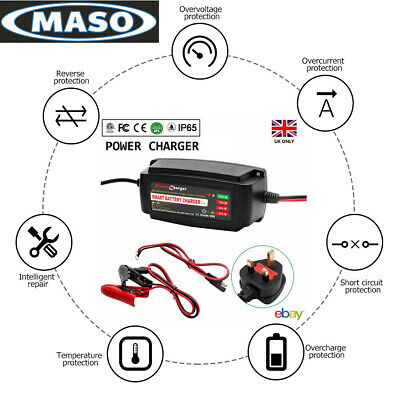 12Volt 5 Amp 12V Ip65 Automatic Intelligent Battery Charger Trickle Fast Car Van