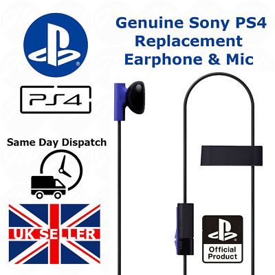 Official Genuine Sony Ps4 Mono Headphone Earphones With Mic Playstation 4 - New