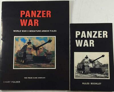 Piker Game Co Historical Mini Rules Panzer War (2nd Edition) Zip VG+