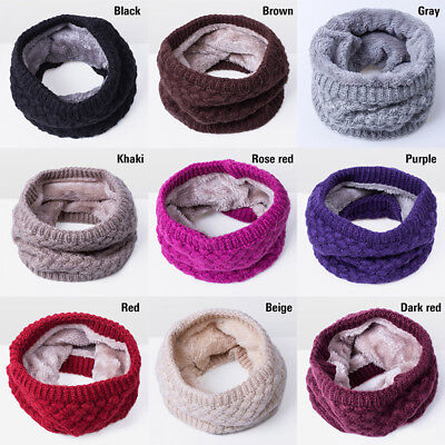 Kids Girls Boys Winter Scarf Fleece Lined Warm Unisex Toddler Neck Loop Warmer