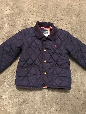 Joules Classic Quilted Jacket 2-3Yrs Boys Girls Clothing Coat Baby Navy