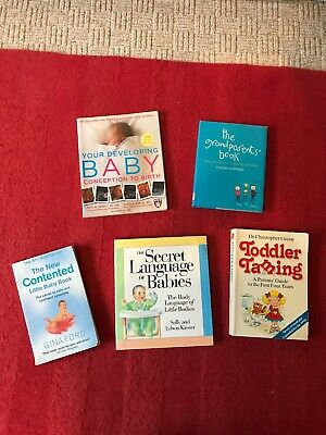 5 Book Bundle Pregnancy Birth Contented Baby Gina Ford Toddler Taming Language
