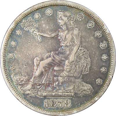 1878 S $1 Trade Silver Dollar Coin XF EF Extremely Fine