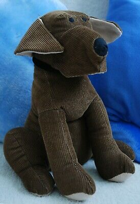 Chunky Cord Ribbed Cute Dog Door Stop ~ 28cm 100% Cotton Brown