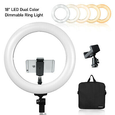 18inch LED Ring Light 5500K Dimmable Lighting Studio stand Kit for YouTube Video