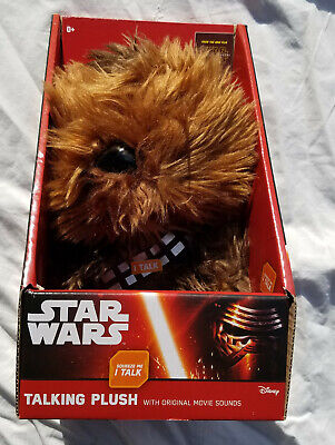 "Star Wars Talking Plush Chewbacca Force Awakens 9"" Inch Toy Underground Toys New"