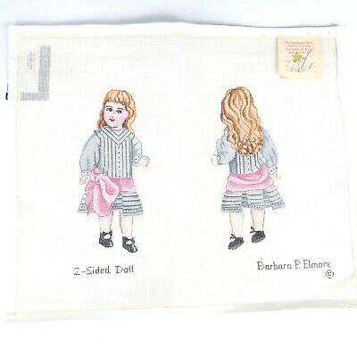 BARBARA ELMORE Needlepoint Canvas 2 Sided Doll