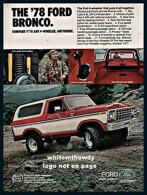 """1970-1980 New Vintage Embroidered Vintage  Ford Bronco  2/"""" x 3/""""  Patch NOS"""