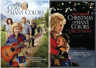 Dolly Parton's Coat of Many Colors & Christmas of Many Colors DVD set NEW