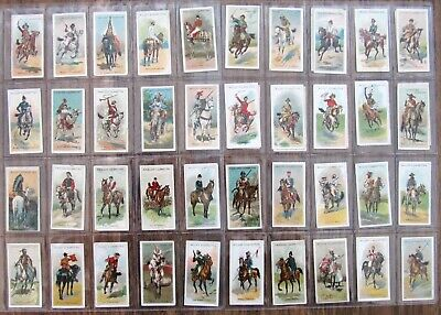 1913  Wills Cigarette Card Set:  RIDERS  OF  THE  WORLD  (set of 50)