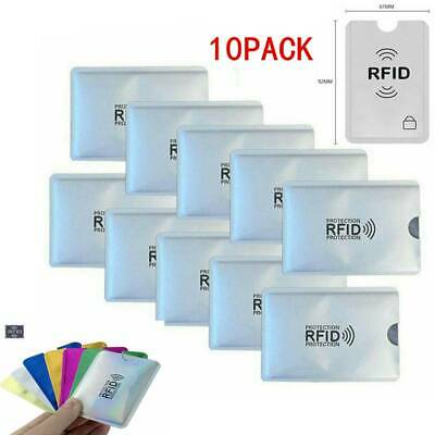 10 RFID Secure Credit Card Car Key Blocking Sleeves Holder Protector Case Shield