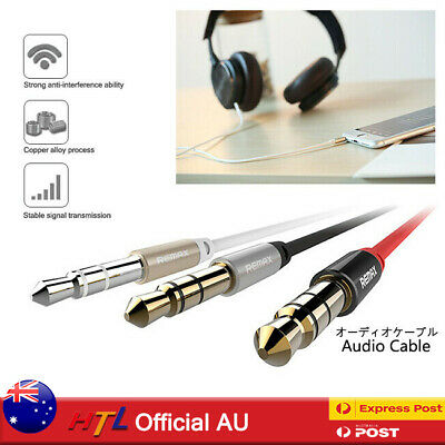 REMAX 1M 2M 3.5mm Male To Male Audio Cable AUX Stereo Speaker Auxiliary Cord