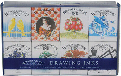 Winsor and Newton Drawing Ink Henry Collection (Pack of 8)