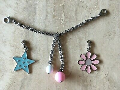 Three-piece charm set for bags/jeans